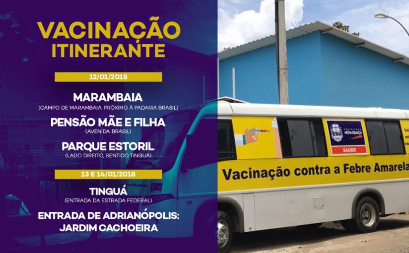 Vacinação itinerante contra a FebreAmarela