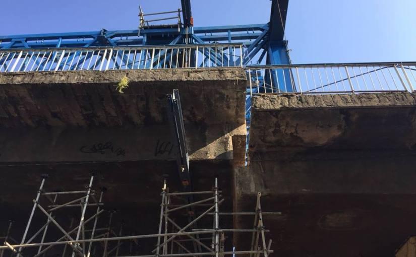 Andamento das obras no Viaduto JoãoMusch