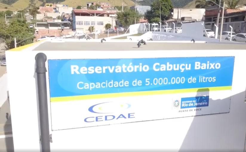 Inauguração do novo reservatório CabuçuBaixo