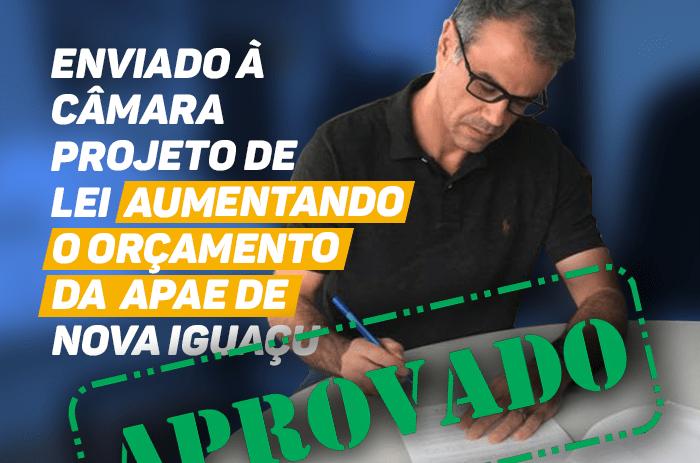 Aprovado PL que aumenta orçamento da Apae em NovaIguaçu