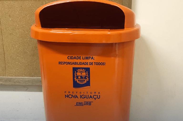 Instalação de novas lixeiras em NovaIguaçu